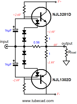 impedance multiplier thermaltrak transistors